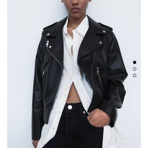 Zara Faux Leather Jacket Size Small NWT